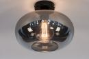 Plafondlamp 31002: modern, eigentijds klassiek, glas, metaal #2