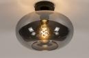 Plafondlamp 31002: modern, eigentijds klassiek, glas, metaal #3