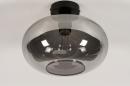 Plafondlamp 31002: modern, eigentijds klassiek, glas, metaal #4