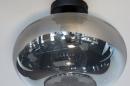 Plafondlamp 31002: modern, eigentijds klassiek, glas, metaal #5