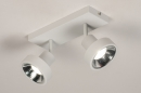 Spot 31015: modern, metaal, wit, langwerpig #3
