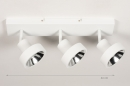 Spot 31019: modern, metaal, wit, langwerpig #1