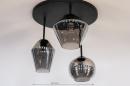 Plafondlamp 31036: modern, retro, eigentijds klassiek, glas #1
