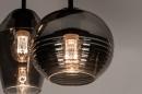 Plafondlamp 31036: modern, retro, eigentijds klassiek, glas #12