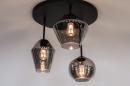 Plafondlamp 31036: modern, retro, eigentijds klassiek, glas #2