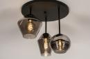 Plafondlamp 31036: modern, retro, eigentijds klassiek, glas #3