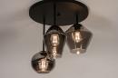 Plafondlamp 31036: modern, retro, eigentijds klassiek, glas #4