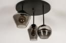 Plafondlamp 31036: modern, retro, eigentijds klassiek, glas #5