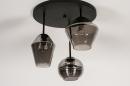 Plafondlamp 31036: modern, retro, eigentijds klassiek, glas #6