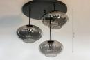 Plafondlamp 31039: modern, retro, eigentijds klassiek, glas #1