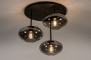 Plafondlamp 31039: modern, retro, eigentijds klassiek, glas #2