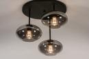 Plafondlamp 31039: modern, retro, eigentijds klassiek, glas #3