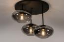 Plafondlamp 31039: modern, retro, eigentijds klassiek, glas #4