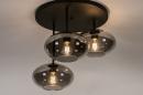 Plafondlamp 31039: modern, retro, eigentijds klassiek, glas #5