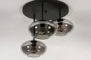 Plafondlamp 31039: modern, retro, eigentijds klassiek, glas #7