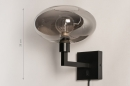 Wandleuchte 31040: modern, Retro, zeitgemaess klassisch, Glas #1