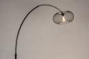Vloerlamp 31043: modern, retro, metaal, zwart #5