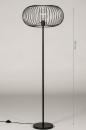 Vloerlamp 31047: industrie, look, modern, metaal #1