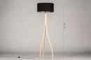 Vloerlamp 31048: design, modern, hout, licht hout #1