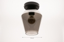 Plafondlamp 31051: modern, retro, eigentijds klassiek, glas #1