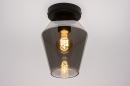 Plafondlamp 31051: modern, retro, eigentijds klassiek, glas #3