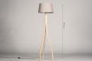 Vloerlamp 31061: landelijk, rustiek, modern, hout #1