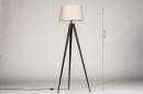 Vloerlamp 31062: design, modern, stof, metaal #1