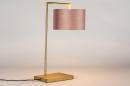 Tafellamp 31070: modern, eigentijds klassiek, messing, stof #2