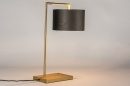 Tafellamp 31073: modern, eigentijds klassiek, messing, stof #2