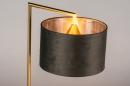 Tafellamp 31073: modern, eigentijds klassiek, messing, stof #4