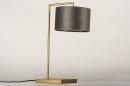 Tafellamp 31073: modern, eigentijds klassiek, messing, stof #7