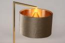 Tafellamp 31076: modern, eigentijds klassiek, messing, stof #4