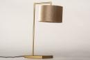 Tafellamp 31076: modern, eigentijds klassiek, messing, stof #7