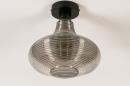 Plafondlamp 31120: modern, retro, eigentijds klassiek, glas #3