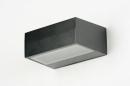 Wandlamp 71510: modern, eigentijds klassiek, aluminium, metaal #9