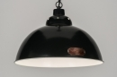 pendant_lamp-72185-classical-retro-industrial_look-dark_gray-metal-round