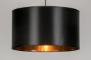 pendant_lamp-72319-sale-modern-contemporary_classical-rustic-gold-black-fabric-round