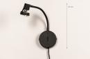 Wandlamp 72843: modern, metaal, zwart, mat #1