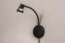 Wandlamp 72843: modern, metaal, zwart, mat #3