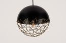 Hanglamp 72867: modern, retro, eigentijds klassiek, messing #16