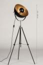 Vloerlamp 73201: modern, retro, eigentijds klassiek, metaal #1