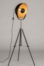 Floor lamp 73201: industrial look, modern, metal, black #4