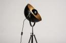 Floor lamp 73201: industrial look, modern, metal, black #6