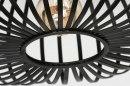 Plafondlamp 73293: modern, retro, metaal, zwart #4