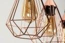 Hanglamp 73410: modern, eigentijds klassiek, metaal, koper #10