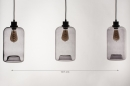 Pendelleuchte 73629: modern, Retro, Glas, Metall #1