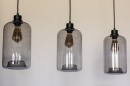 Pendelleuchte 73629: modern, Retro, Glas, Metall #12