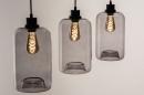 Pendelleuchte 73629: modern, Retro, Glas, Metall #3