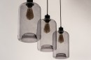 Pendelleuchte 73629: modern, Retro, Glas, Metall #6