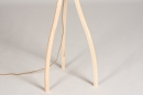 Floor lamp 73688: designer, modern, wood, light wood #1